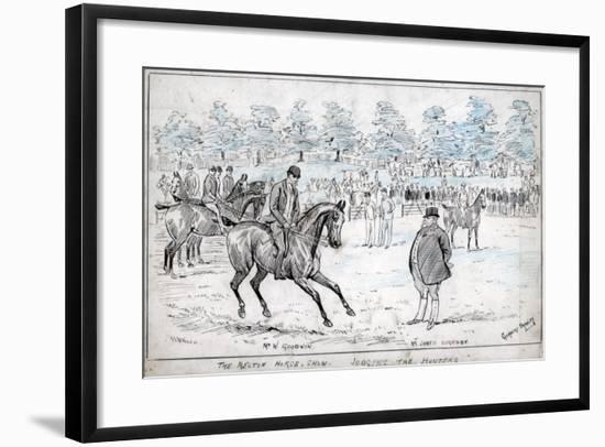 The Melton Horse Show, Judging the Hunters, C1880-1940-Cuthbert Bradley-Framed Giclee Print