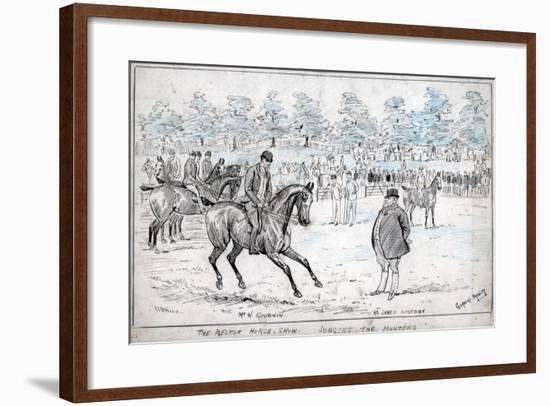 The Melton Horse Show, Judging the Hunters, C1880-1940-Cuthbert Bradley-Framed Giclee Print