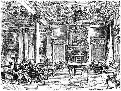 The Members' Lounge, Rac Clubhouse, Pall Mall, London, 1946-Hanslip Fletcher-Giclee Print