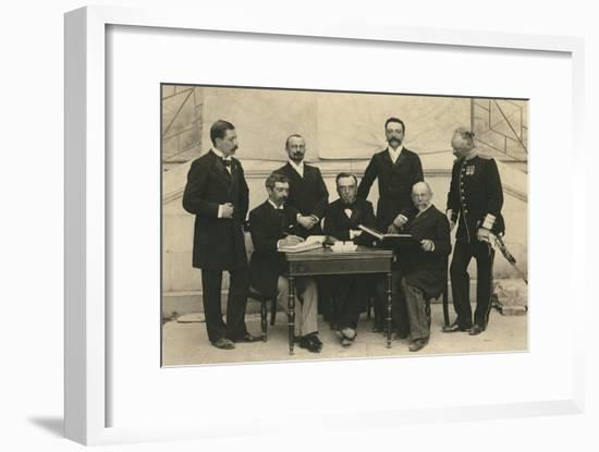 The Members of the First International Olympic Committee. Athens, Greece, 1896-Albert Meyer-Framed Photographic Print