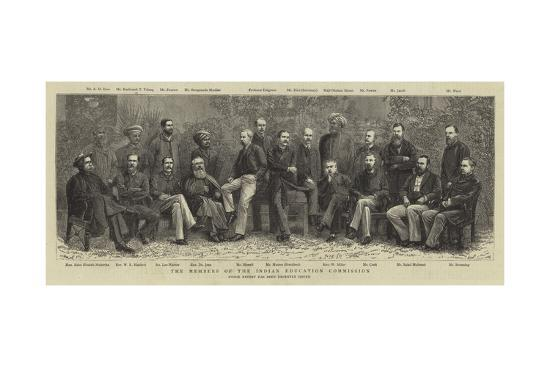 The Members of the Indian Education Commission--Giclee Print
