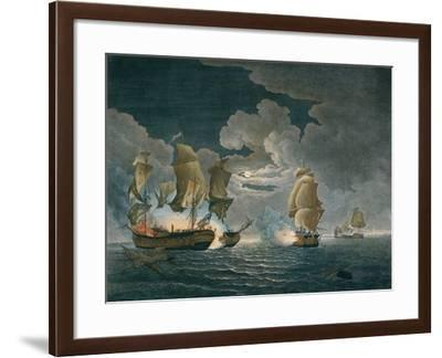 The Memorable Engagement of Captn. Pearson of the Serapis with Paul Jones of the Bon Homme Richard-Richard Paton-Framed Giclee Print