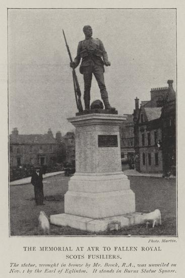 The Memorial at Ayr to Fallen Royal Scots Fusiliers--Giclee Print