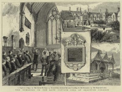 The Memorial to the Late Captain Gill at Brighton College--Giclee Print