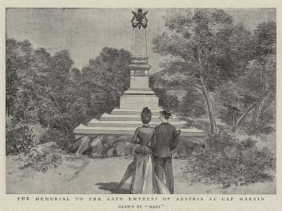 The Memorial to the Late Empress of Austria at Cap Martin--Giclee Print