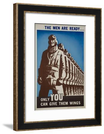 The Men are Ready Poster--Framed Giclee Print