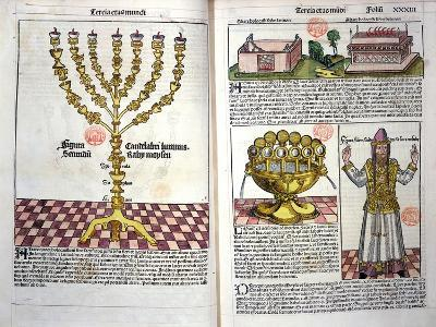 The Menorah and a Hebrew Priest, from the Nuremberg Chronicle by Hartmann Schedel--Giclee Print