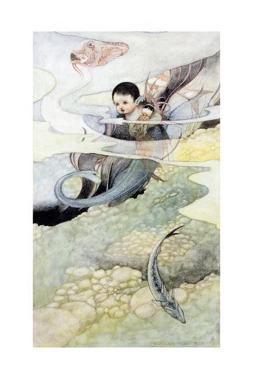 The Mer-Baby-Charles Robinson-Giclee Print