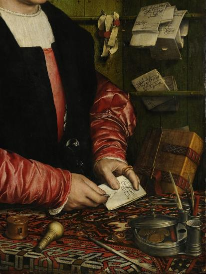 The Merchant Georg Gisze (Detail), 1532-Hans Holbein the Younger-Giclee Print