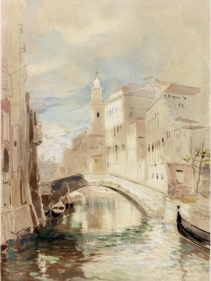 The Merchant of Venice on the Rialto Bridge-James Holland-Photographic Print