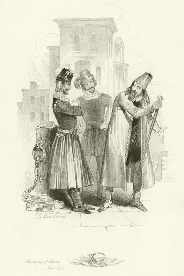The Merchant of Venice-Joseph Kenny Meadows-Giclee Print