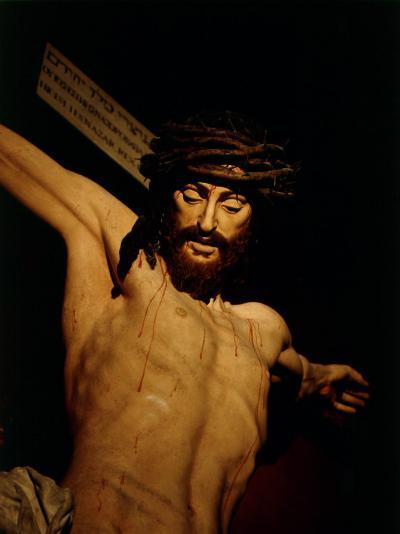 The Merciful Christ, Detail of Head with Crown of Thorns--Photographic Print