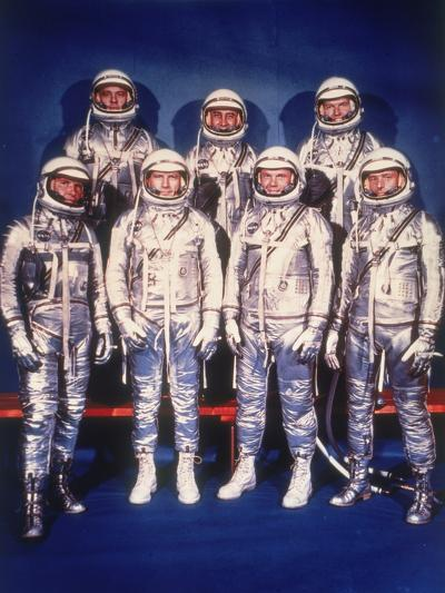 The Mercury Seven Astronauts, 1959--Photographic Print