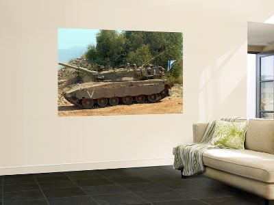 The Merkava Mark IV Main Battle Tank of the Israel Defense Force-Stocktrek Images-Wall Mural