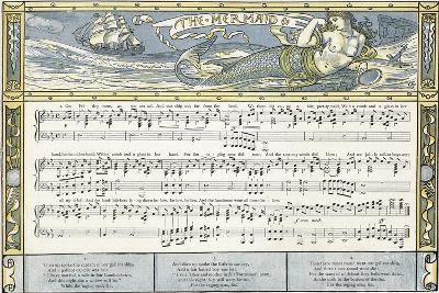 The Mermaid', Song Illustration from 'Pan-Pipes', a Book of Old Songs, Newly Arranged and with?-Walter Crane-Giclee Print