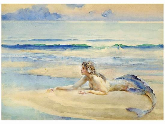 The Mermaid-John Reinhard Weguelin-Art Print