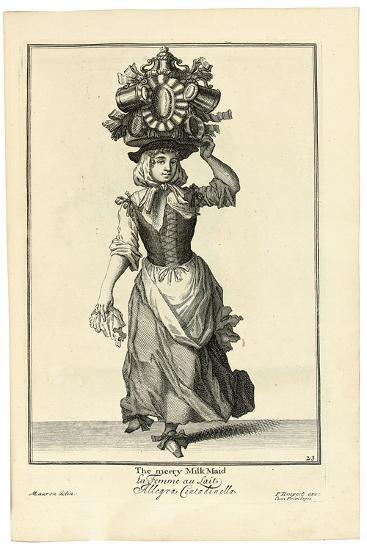 The Merry Milk Maid, 1733-Marcellus Lauron-Giclee Print