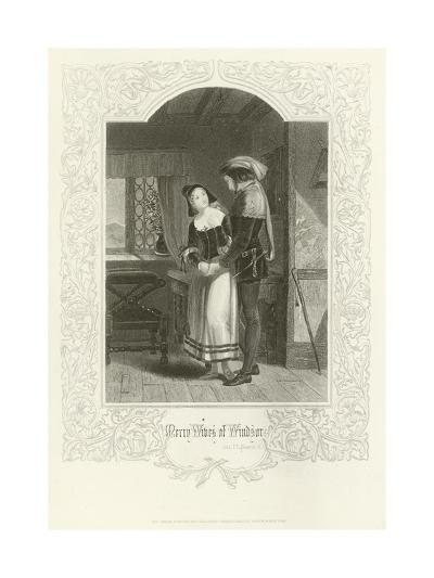 The Merry Wives of Windsor, Act III, Scene IV-Joseph Kenny Meadows-Giclee Print