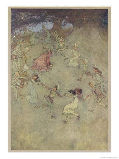"""The Merry Wives of Windsor, Act IV Scene III: """"Let Them All Encircle Him About""""-Hugh Thomson-Giclee Print"""
