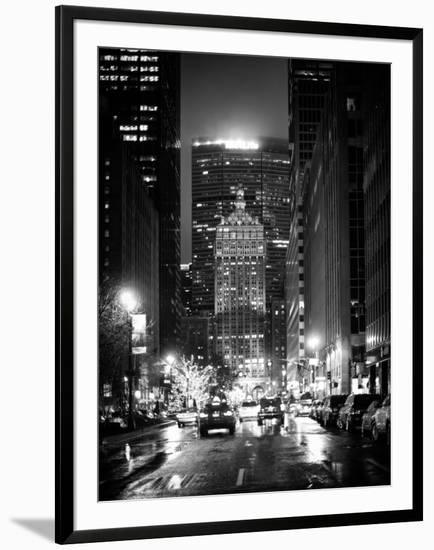 The Metlife Building Towers over Grand Central Terminal by Night-Philippe Hugonnard-Framed Photographic Print