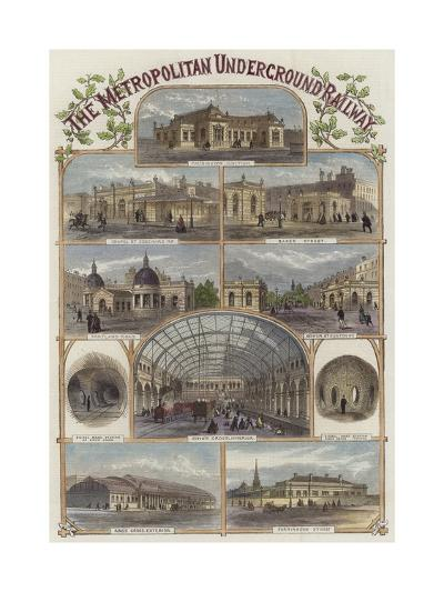 The Metropolitan Underground Railway--Giclee Print