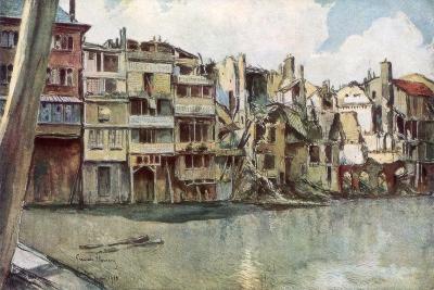 The Meuse River, Verdun, France, June 1916-Francois Flameng-Giclee Print