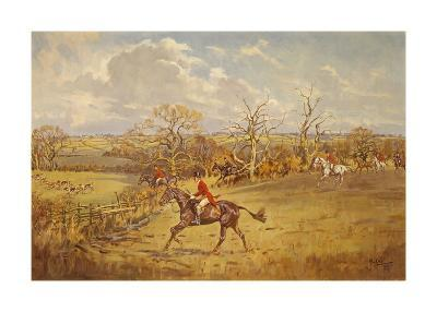 The Meynell - Evening Hunt from Eaton Wood-John King-Premium Giclee Print