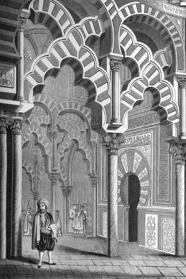 The Mezquita, Córdoba, Spain, 1849- Cottard-Giclee Print