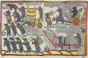 The Mice are Burying the Cat, Lubok Print, 1760