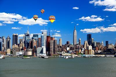 The Mid-Town Manhattan Skyline on A Sunny Day-Gary718-Photographic Print