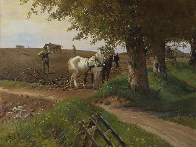 The Midday Break-Frants Henningsen-Giclee Print