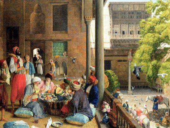 The Midday Meal, Cairo, 1875-John Frederick Lewis-Giclee Print