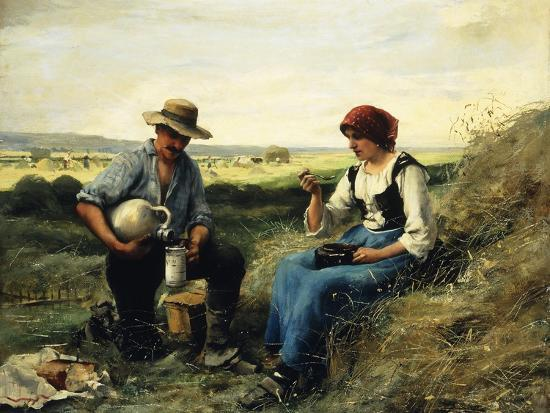 The Midday Repast-Julien Dupre-Giclee Print