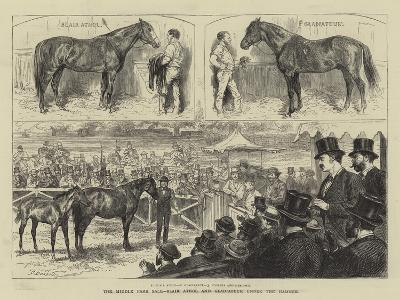 The Middle Park Sale, Blair Athol and Gladiateur under the Hammer-Godefroy Durand-Giclee Print