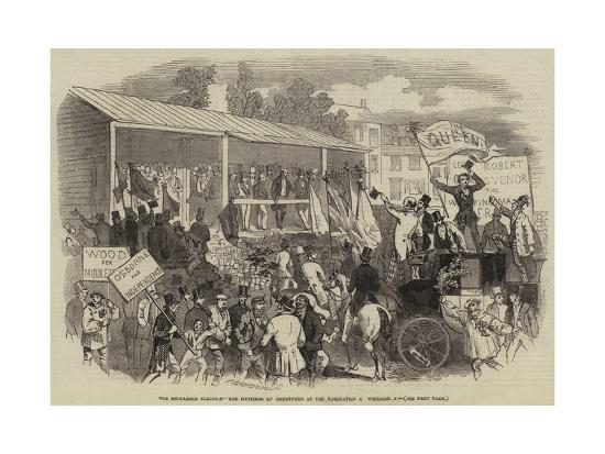 The Middlesex Election, the Hustings at Brentford at the Nomination on Wednesday--Giclee Print