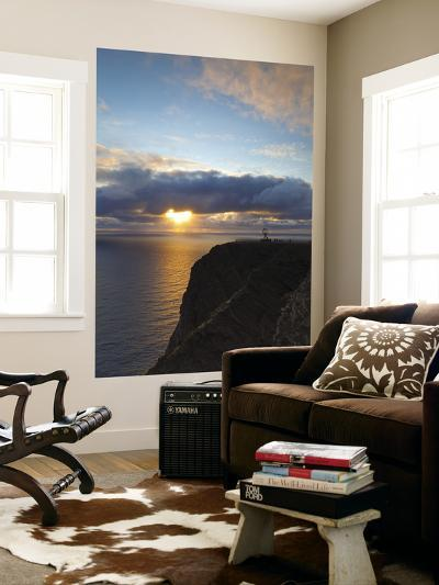 The Midnight Sun Breaks Through the Clouds at Nordkapp, Finnmark, Norway-Doug Pearson-Wall Mural