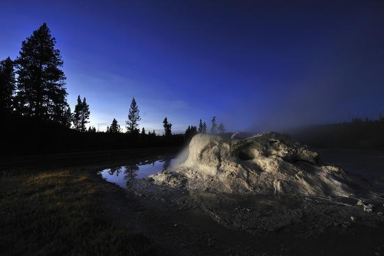 The Midway Geyser Basin at Night, under the Big Dipper, Yellowstone National Park, Wyoming-Keith Ladzinski-Photographic Print