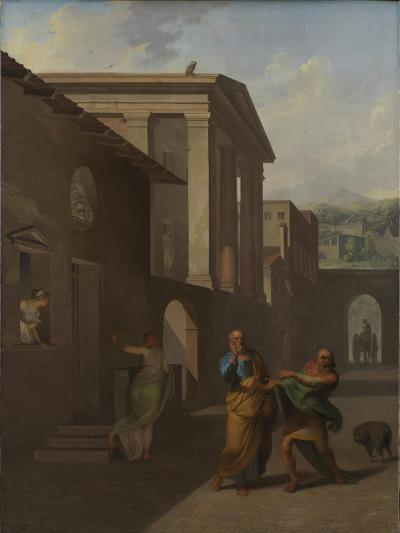 The Midwife Taking Leave of the Girl From Andros, 1801-Nicolai Abraham Abildgaard-Giclee Print