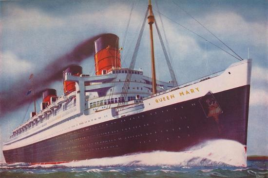 'The Mighty Atlantic Record Breaker, the Queen Mary', 1937-Unknown-Giclee Print