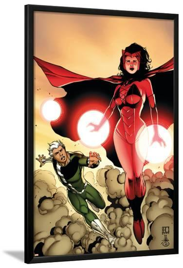 The Mighty Avengers No.24 Cover: Scarlet Witch and Quicksilver-Khoi Pham-Lamina Framed Poster