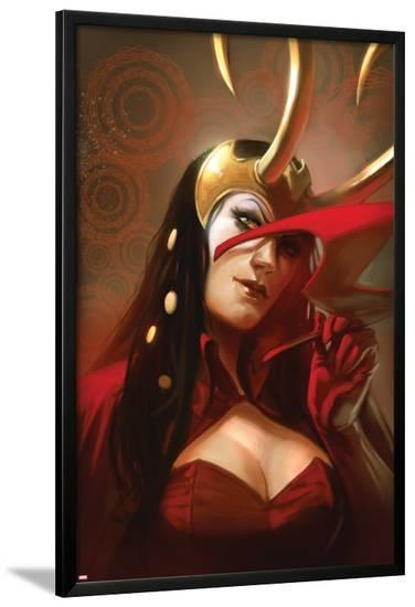 The Mighty Avengers No.29 Cover: Loki--Lamina Framed Poster