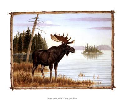 The Mighty Moose-Ron Jenkins-Art Print