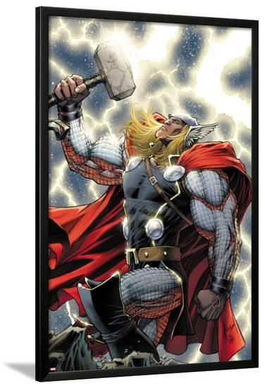 The Mighty Thor No.11 Cover: Thor Standing with Mjonir-Dale Keown-Lamina Framed Poster