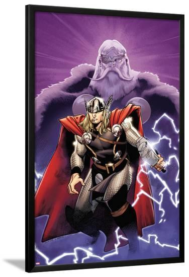 The Mighty Thor No.2 Cover: Thor and Odin-Olivier Coipel-Lamina Framed Poster
