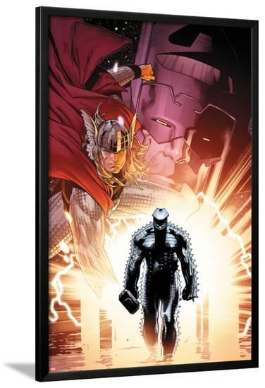 The Mighty Thor No.6 Cover: Thor and Destroyer-Olivier Coipel-Lamina Framed Poster