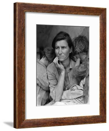 The Migrant Mother, c.1936-Dorothea Lange-Framed Photographic Print