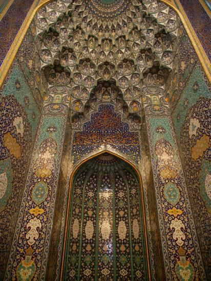 The Mihrab in the Sultan Qaboos Grand Mosque, Muscat, Oman, Middle East-Godong-Photographic Print
