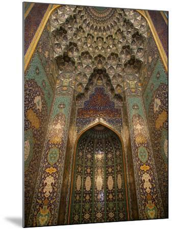 The Mihrab in the Sultan Qaboos Grand Mosque, Muscat, Oman, Middle East-Godong-Mounted Photographic Print