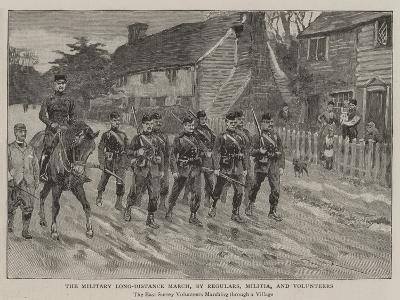 The Military Long-Distance March, by Regulars, Militia, and Volunteers--Giclee Print