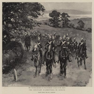 The Military Manoeuvres in Sussex--Giclee Print